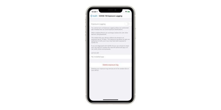 expsoure notifications ios 135 b4 2000x1000x