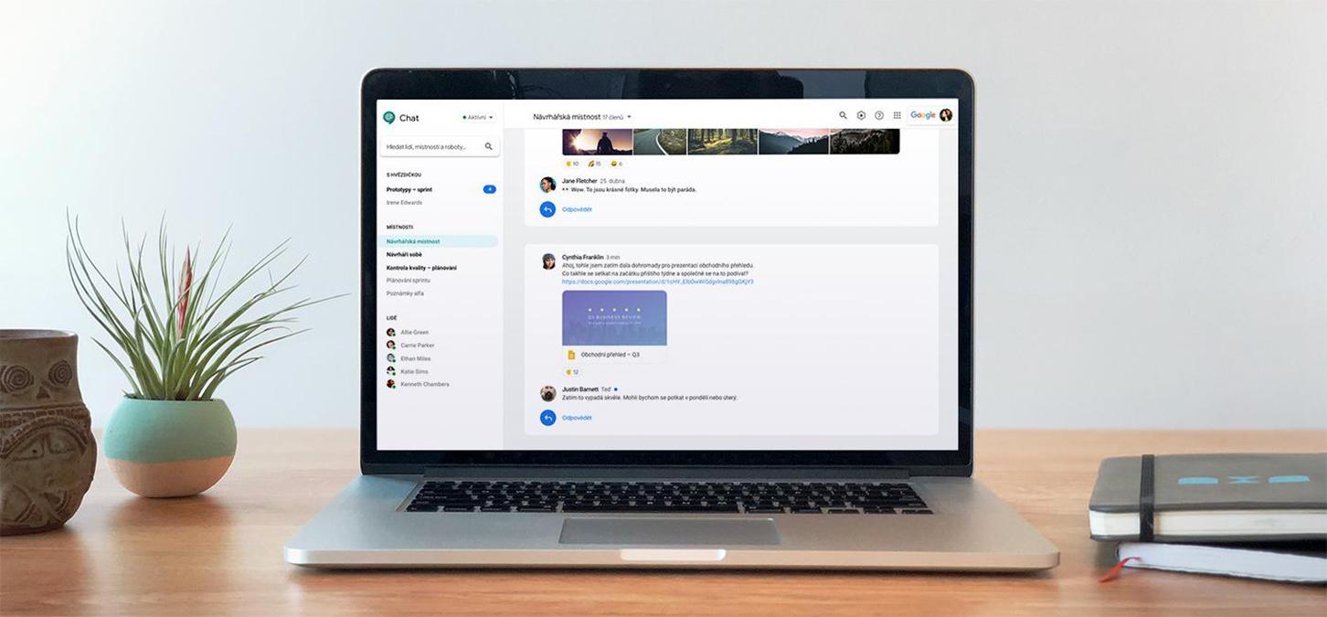 Google Chat začíná podporovat pozvánky pro externí uživatele