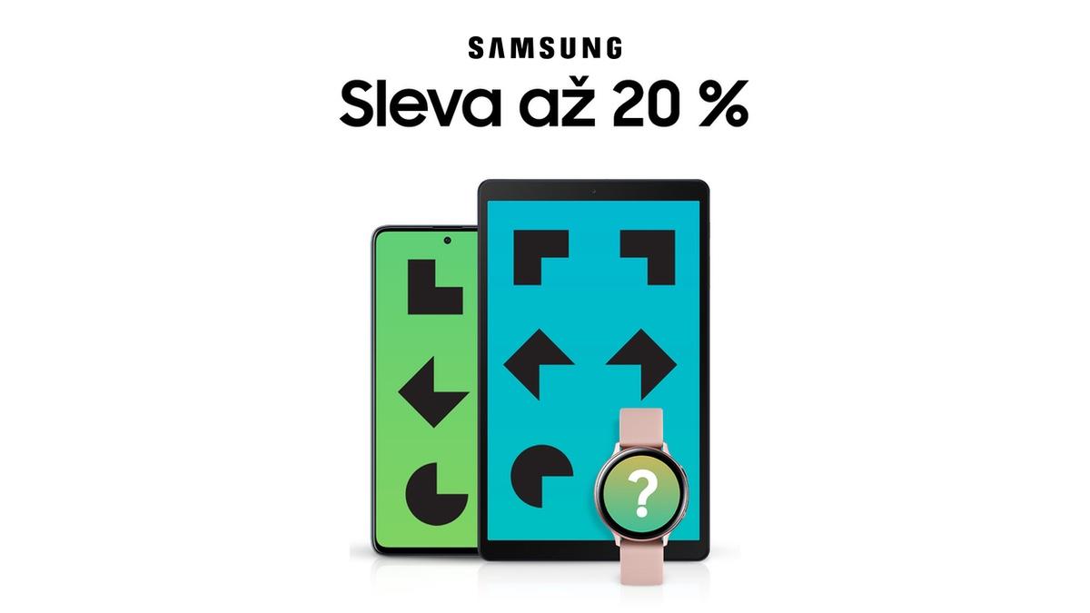 Samsung vypustil slevové kódy. Smartphony, tablety a chytré hodinky koupíte až o 20 % levněji [sponzorovaný článek]