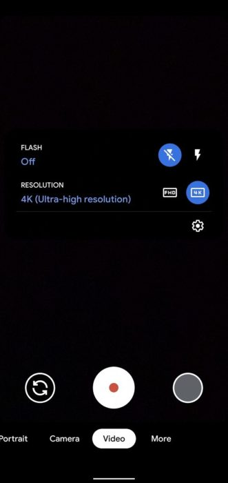 Google Camera 74 Video Resolution Option 4k 568x1200x