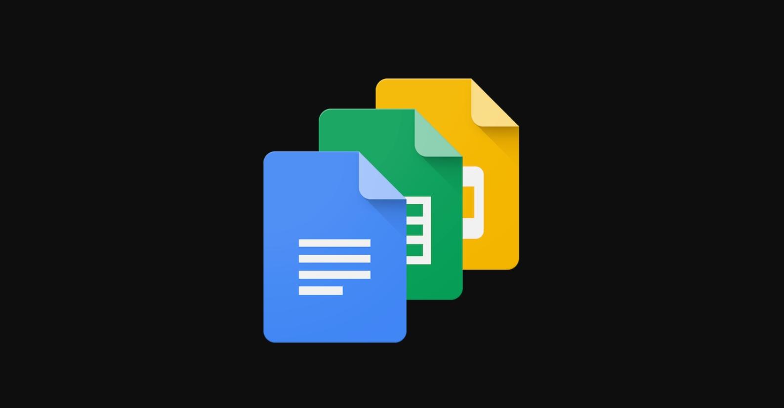 Google nasazuje tmavý vzhled u aplikací Dokumenty, Tabulky, Prezentace