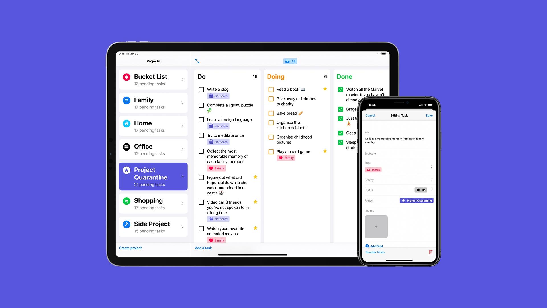 Tasks je nová iOS aplikace pro organizaci projektů