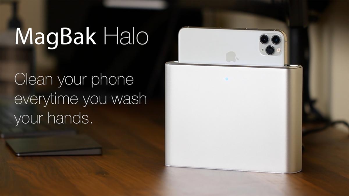 """MagBak Halo je """"toustovač"""" na mobil, který jej dezinfikuje"""
