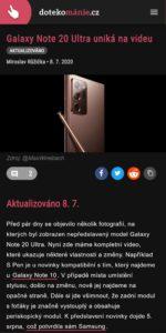 dotekomanie.cz 2020 07 galaxy note 20 se 108mpx fotakem jiz nema trpet problemy s ostrenim Pixel 2 XL 1439x2881x