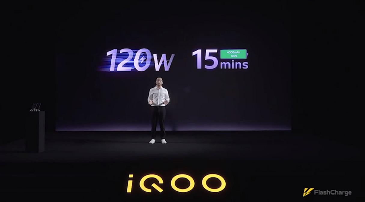 iQOO představilo 120W nabíjení pro mobily
