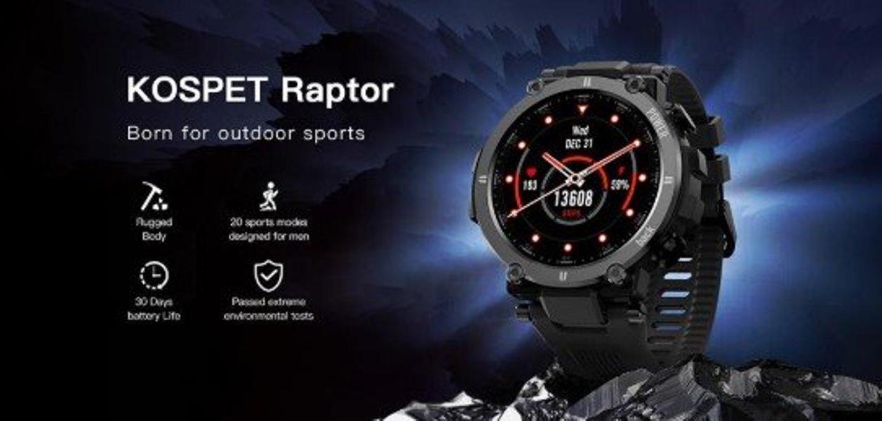 Kospet Raptor – hodinky zrozené pro outdoorové sporty