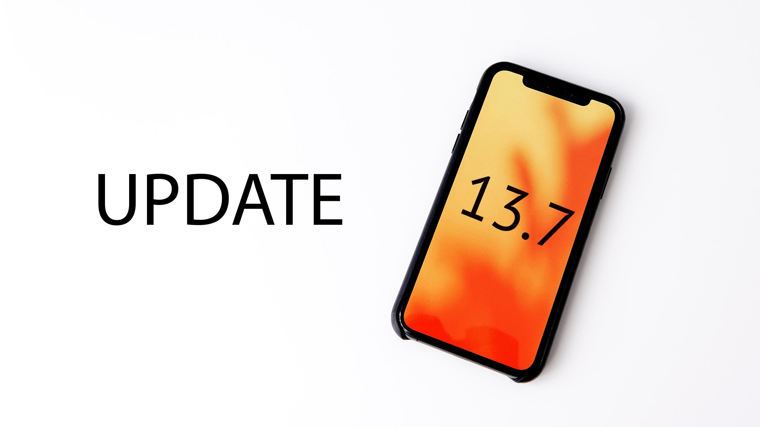 iOS 13.7 je oficiálně k dispozici ke stažení