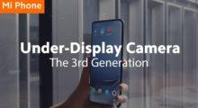 Xiaomi se pochlubilo 3. generací kamery pod displejem