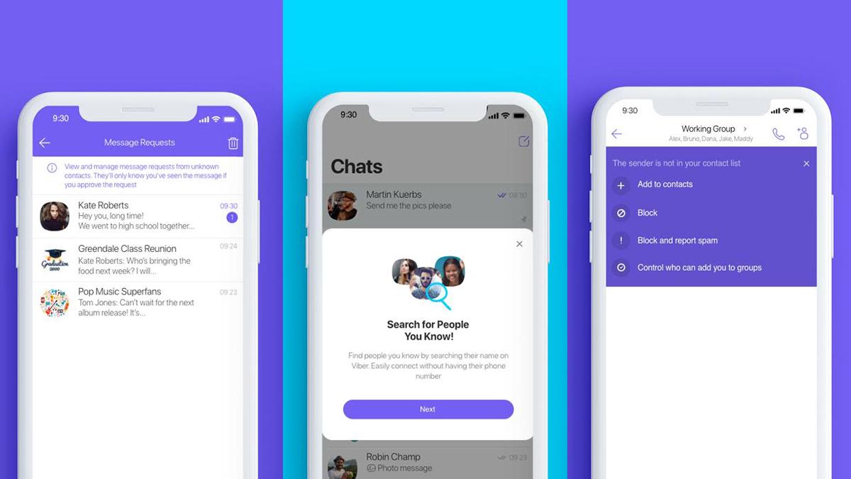 Viber vylepšuje boj proti spamu a upravuje vyhledávání
