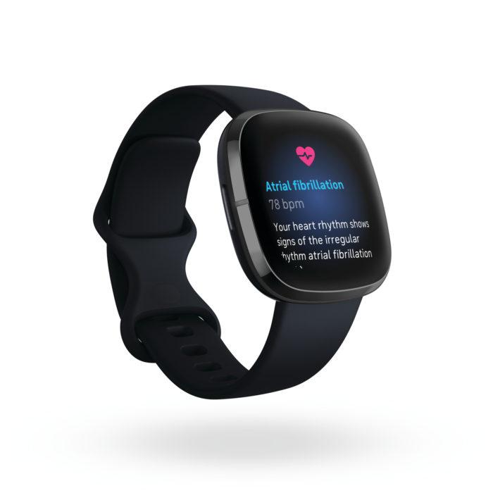Fitbit Sense 3QTR Core Carbon Graphite ECG Afib SH 2000x2000x