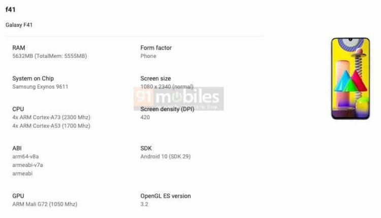 Galaxy F41 Google Play Listing 892x512x