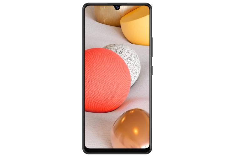 GalaxyA42 5G Black Front 4500x3000x
