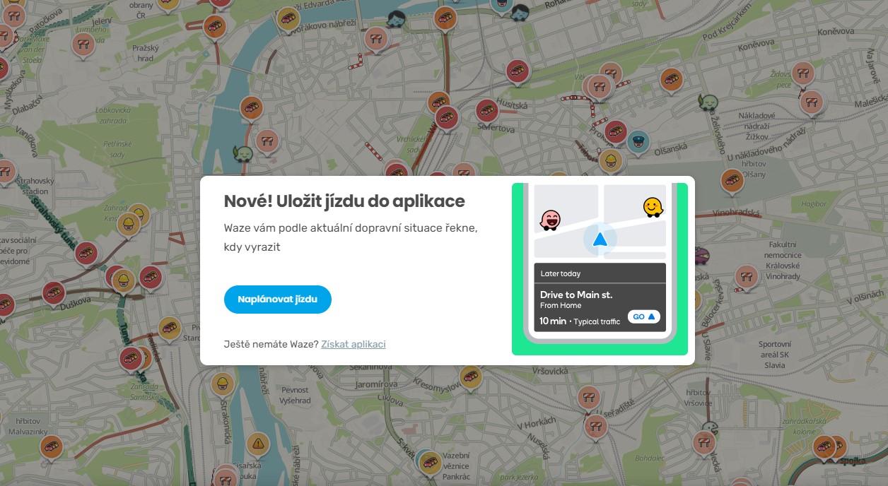 Waze propojuje web a aplikaci, lépe naplánujete trasu