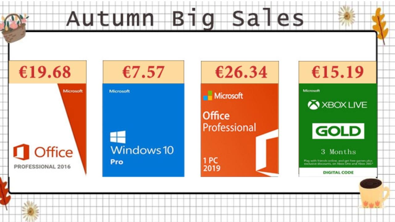 Podzimní smršť slev: pořiďte si Windows 10 a další software za nízké ceny [sponzorovaný článek]