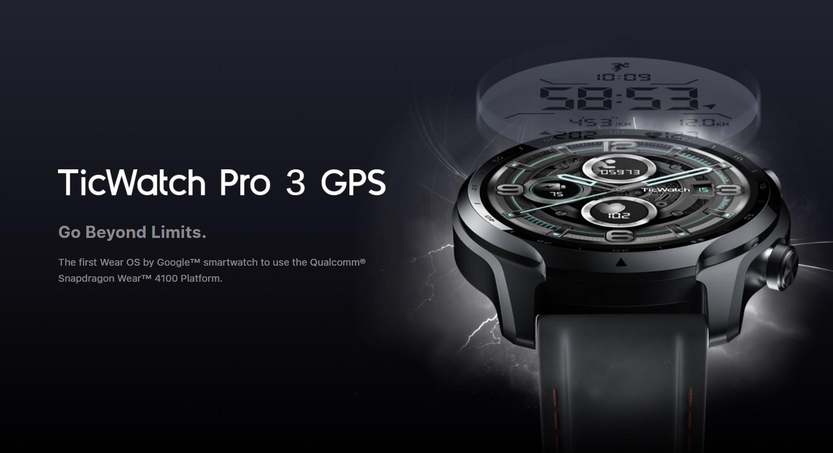 TicWatch Pro 3 GPS oficiálně, první se Snapdragonem Wear 4100