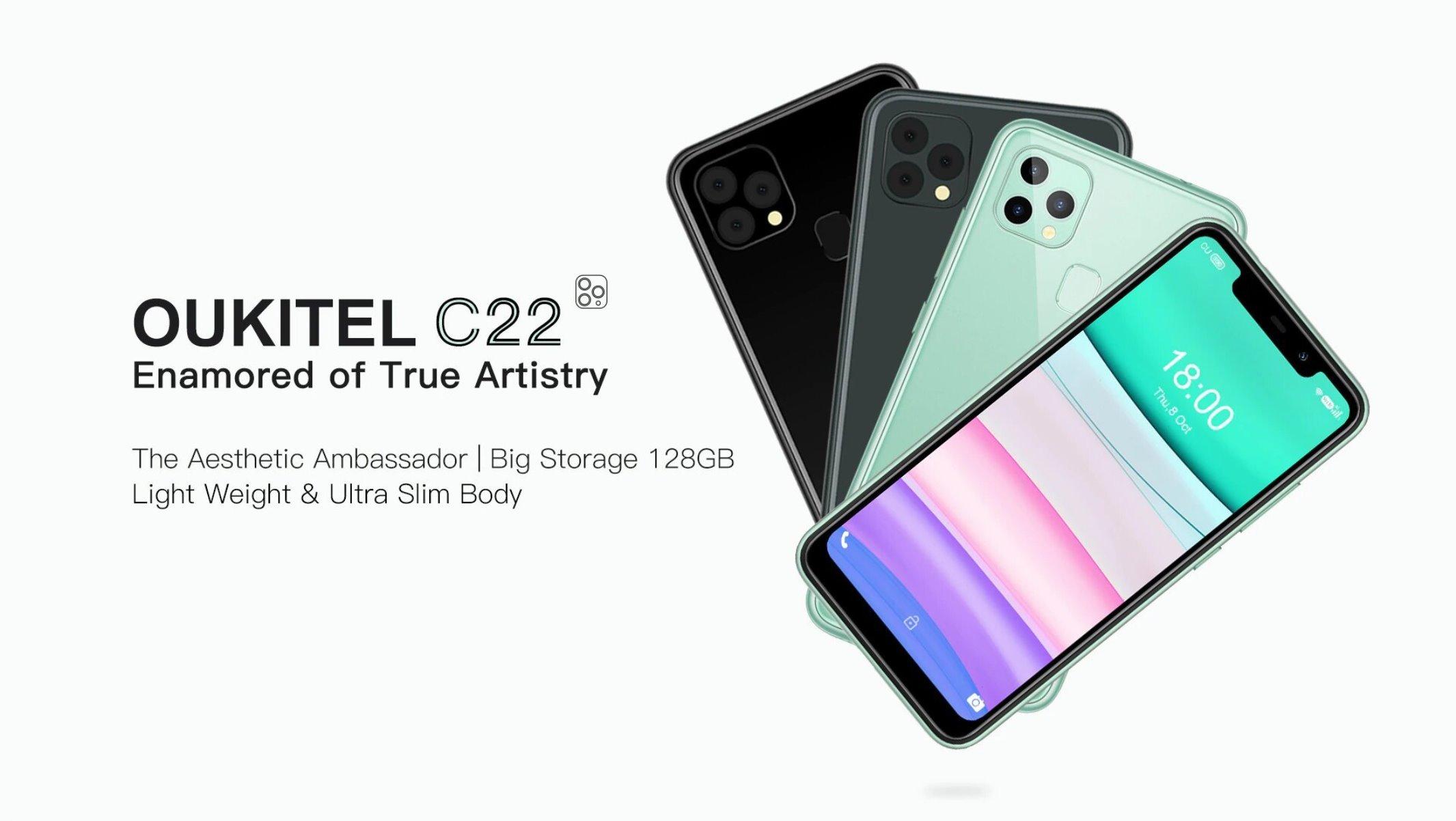 Oukitel C22 nenápadně připomíná iPhone 11 Pro