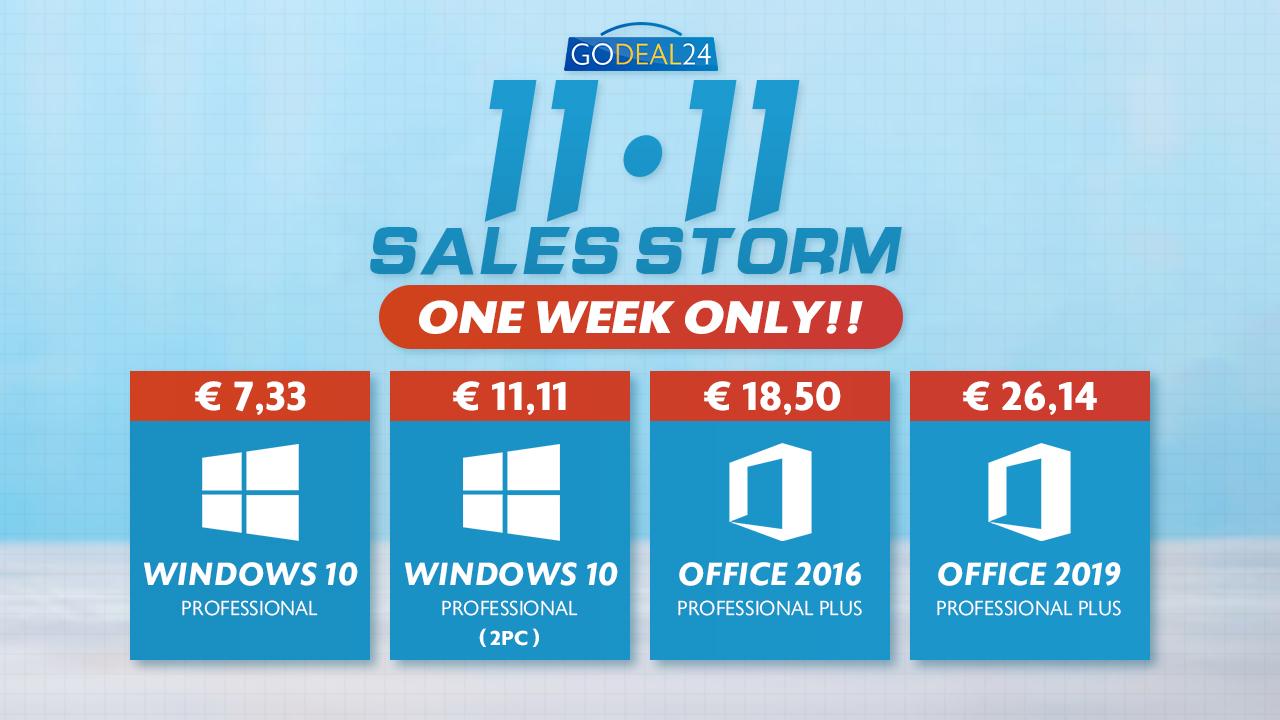Zbývá jeden týden! Nejlepší nabídky z akce 11.11 GoDeal24: Windows 10 pouze za 123 Kč! [sponzorovaný článek]