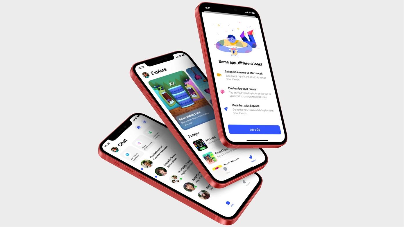 Messenger Kids získává nový kabátek, více připomíná dospělou verzi