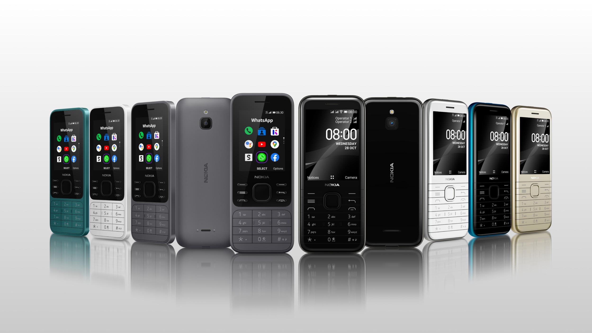 Novinky Nokia 8000 4G a Nokia 6300 4G představeny