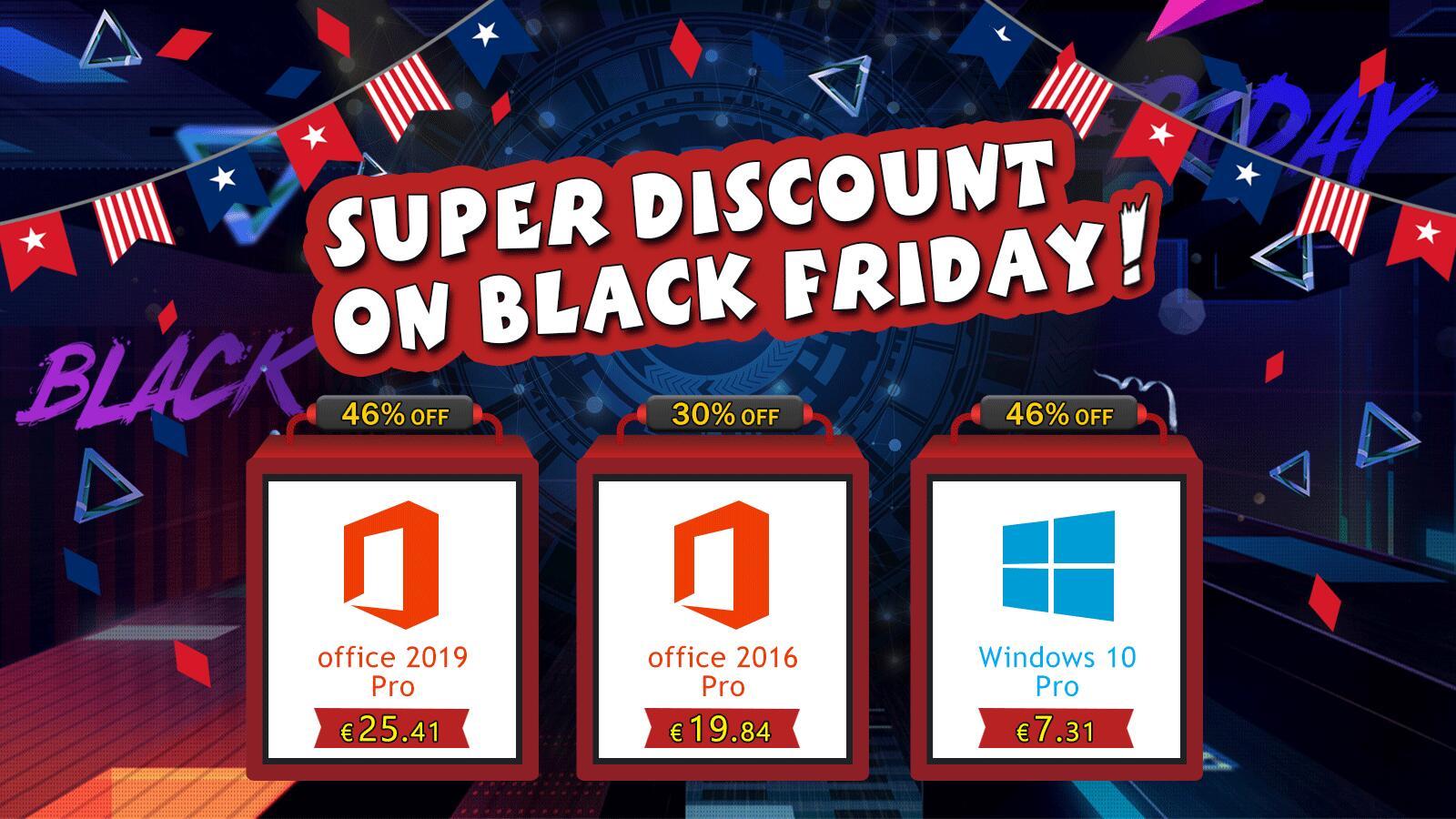 Black Friday: Windows 10 Pro za 7.31 EUR a Office 2019 pro za 25.41 EUR [sponzorovaný článek]
