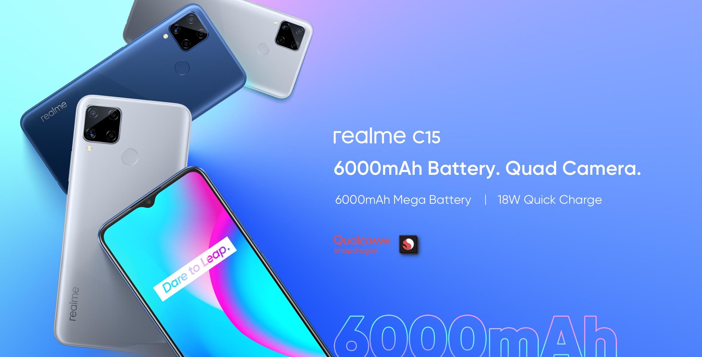 Realme C15 se dočkalo Snapdragonu