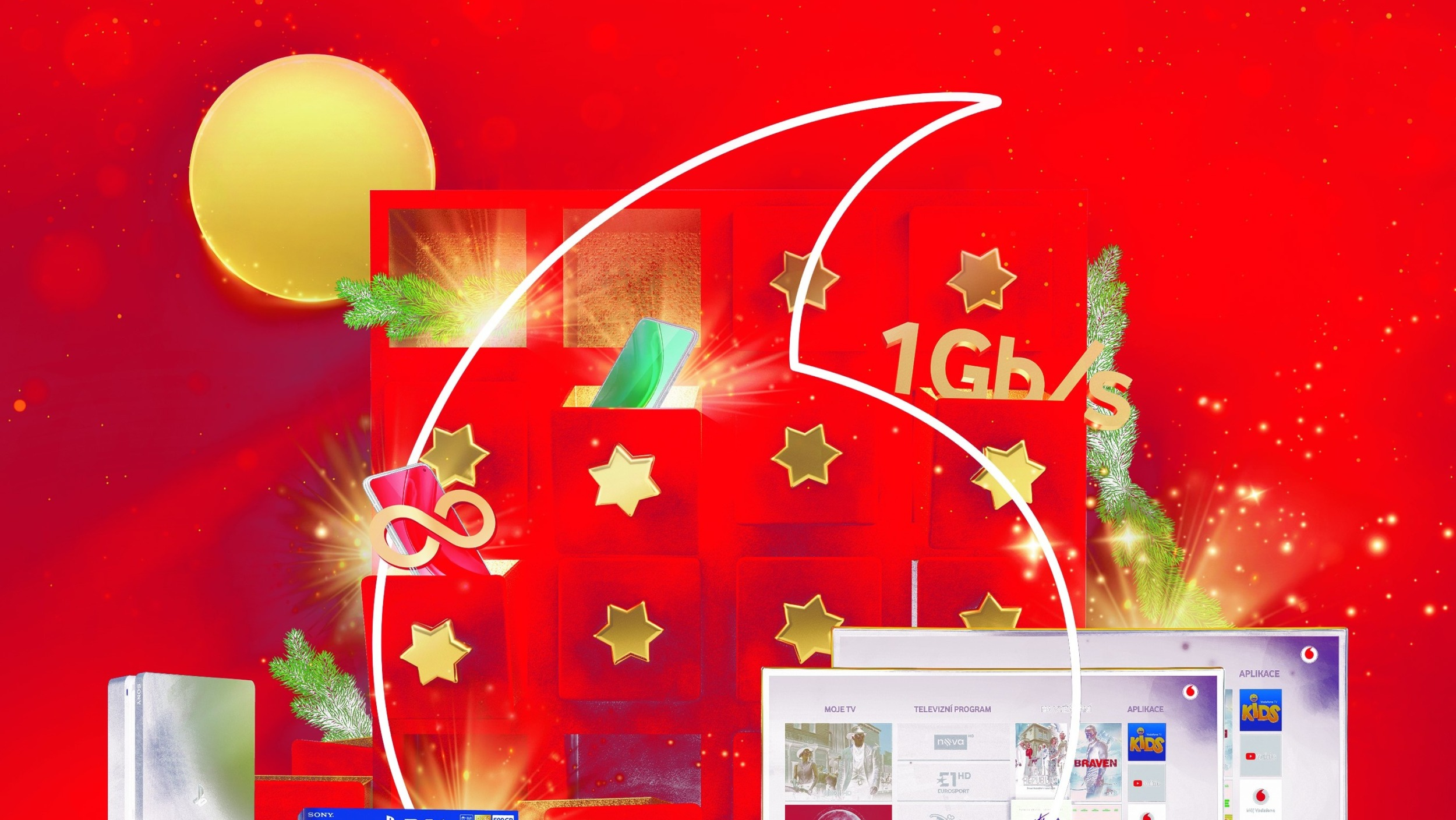 Vodafone Vánoce ve jménu neomezených dat