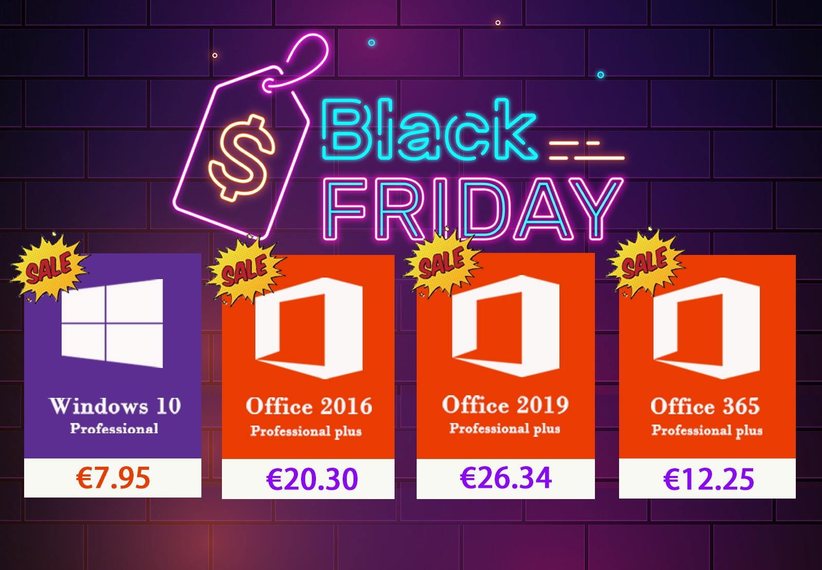 Black Friday: Windows 10, Office 2019 a další software za parádní ceny [sponzorovaný článek]