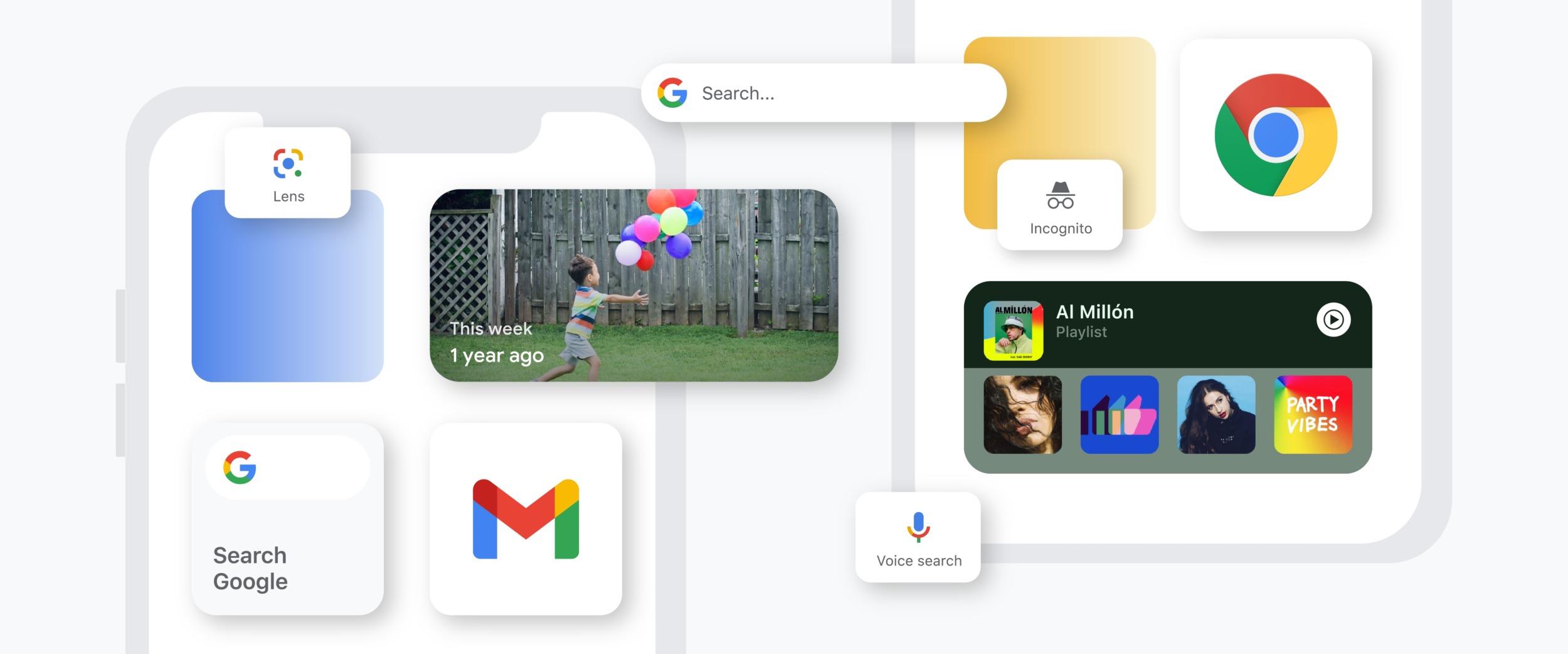 iPhony dostávají nové widgety pro Gmail, Google Disk a Google Fit