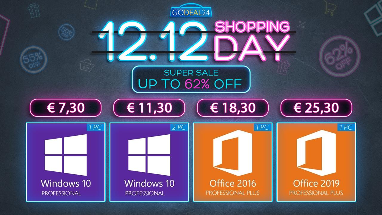 Akce 12.12 2020: Windows 10 už od 5,56 EUR, další software Mirosoftu a Office se slevou až 88%! [sponzorovaný článek]