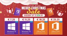 Vánoční výprodej softwaru – Windows 10 Pro za 7,25 EUR, Office 2019 Pro za 25,25 EUR a další! [sponzorovaný článek]