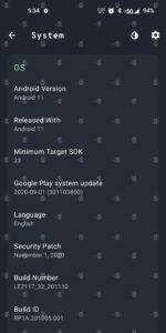 OnePlus 9 5G specs 11 1080x2155x