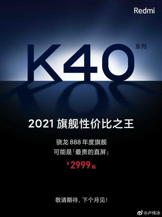 REdmi K40 teaser Weibo body 900x1200x