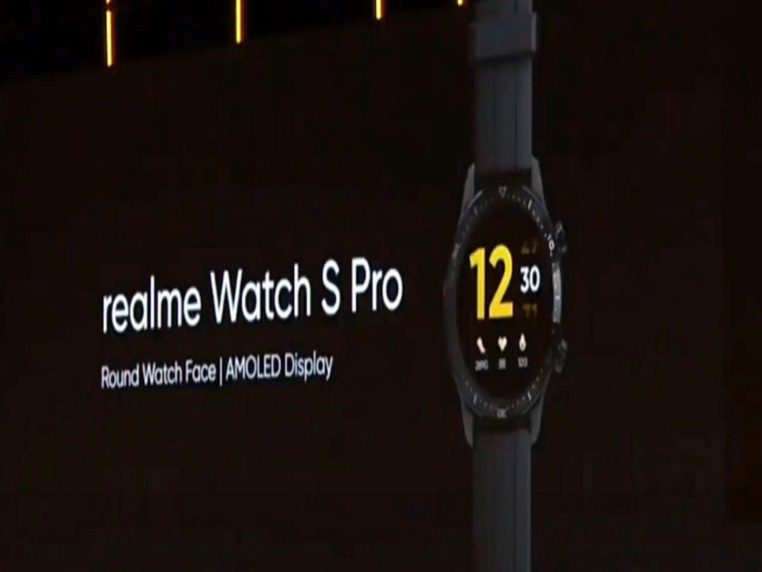 Hodinky Realme Watch S Pro se představí co nevidět
