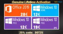Nové originální permanentní Windows 10 a Office 2019 za parádní cenu, už od 12 euro! [sponzorovaný článek]