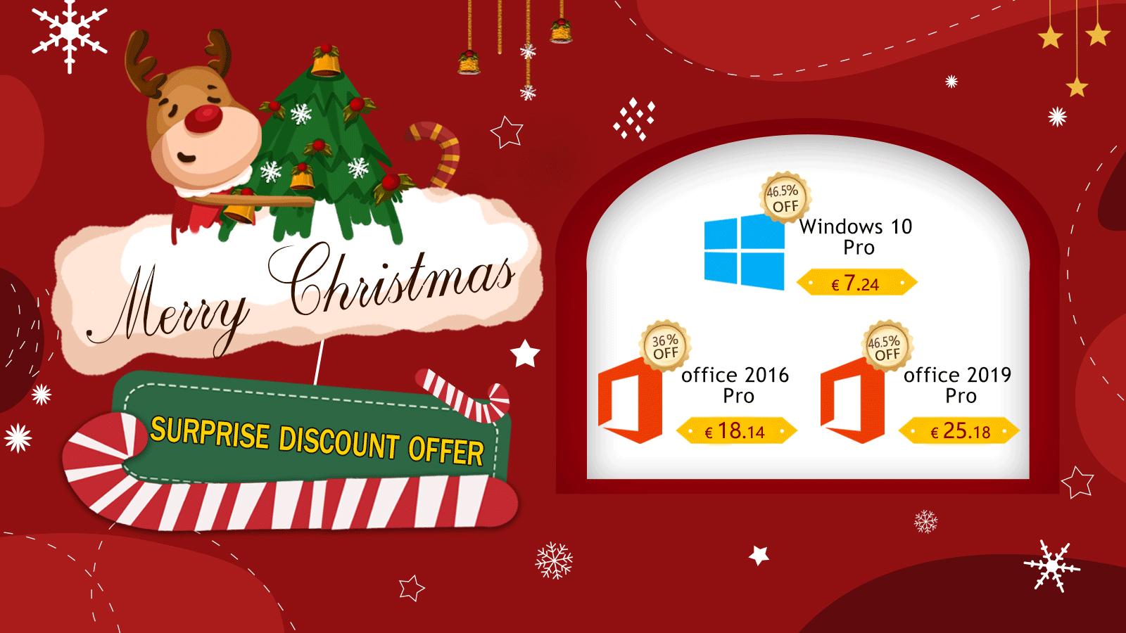 Vánoční speciální nadílka: Windows 10 Pro za 7.24 EUR a Office 2019 Pro za 25.18 EUR [sponzorovaný článek]