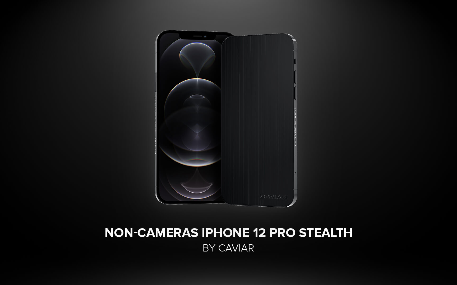 Caviar zbavil fotoaparátu iPhone 12 Pro v edici Stealth