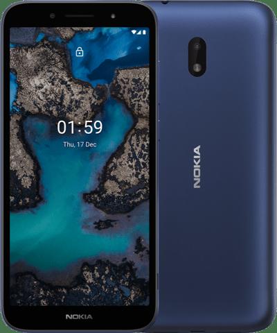 nokia C 1 Plus front back blue 400x480x