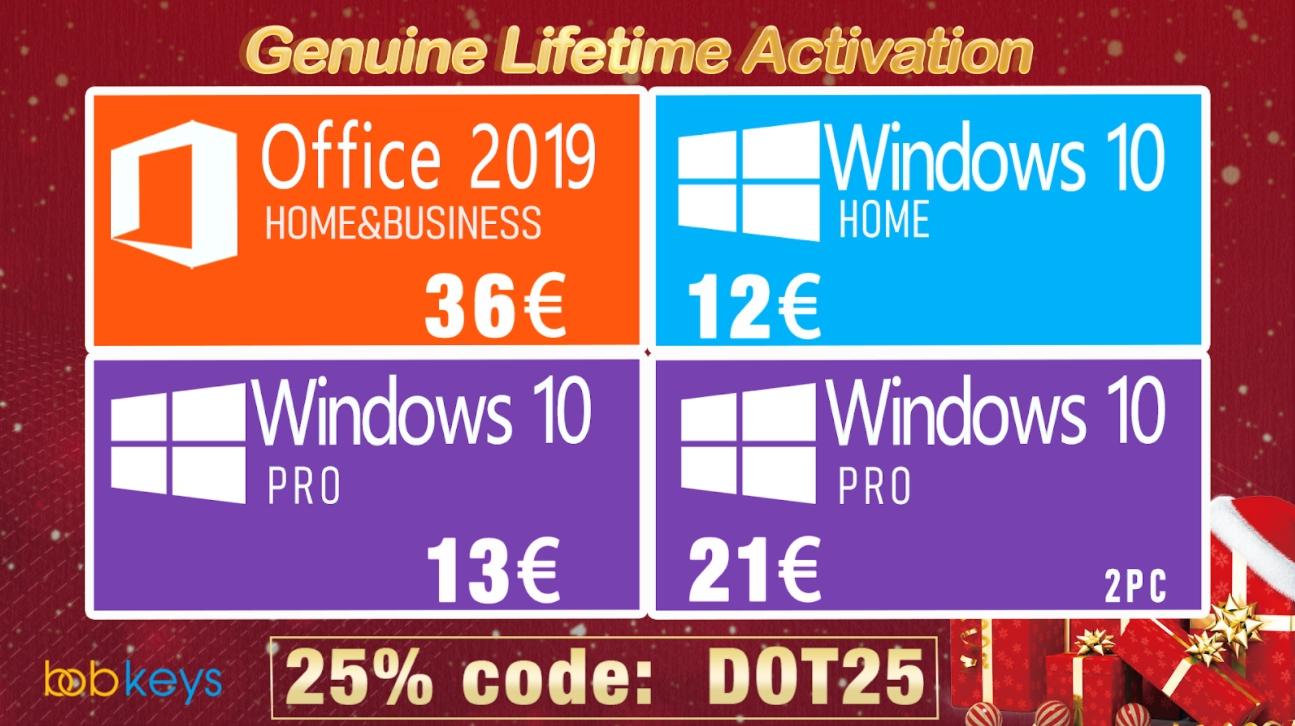 Dárek na poslední chvíli? Co třeba originální Windows 10 Pro již za 13 eur [sponzorovaný článek]