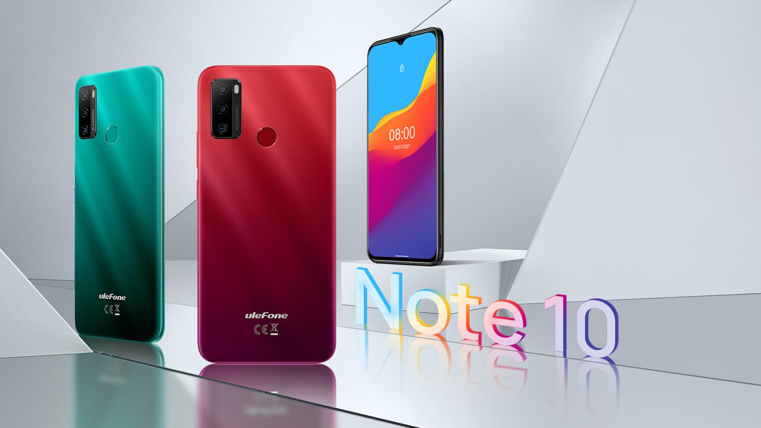 Ulefone uvádí Note 10 s Android Go