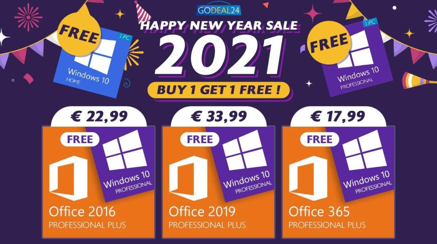 Nejlepší novoroční slevy: Kupte si klíč Microsoft Office Pro Plus a získejte k tomu Windows 10 zcela zdarma! [sponzorovaný článek]