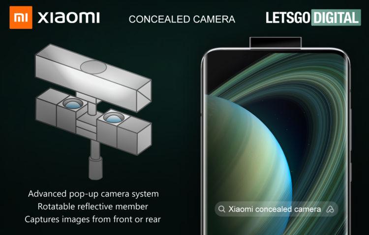 xiaomi pop up camera met roterende spiegel 1440x920x