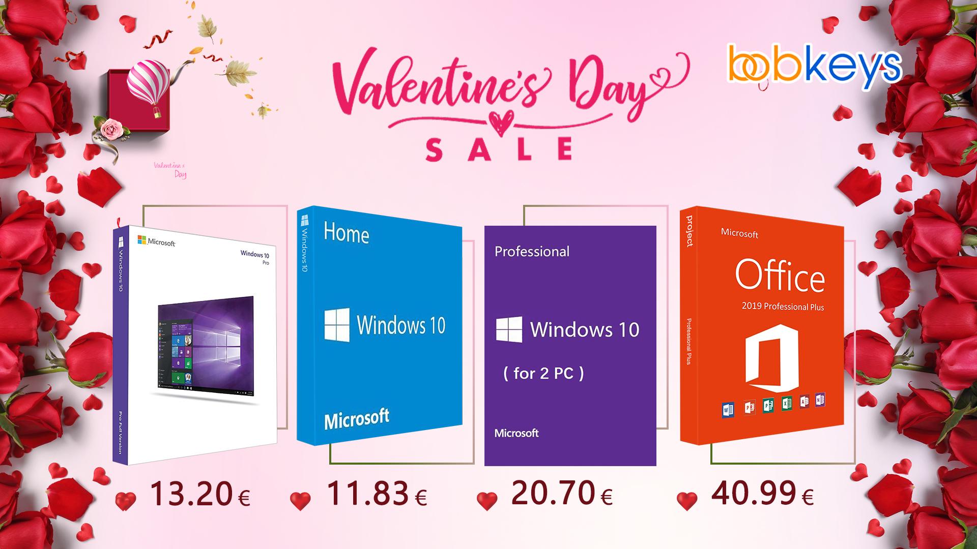 Nová akce na Windows 10 k blížícímu se Valentýnu – originální licence od 271 Kč [sponzorovaný článek]