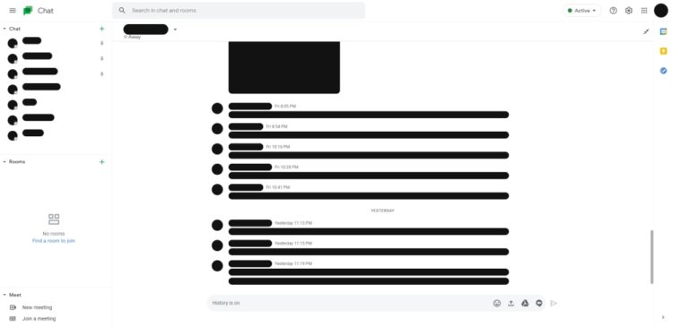 Google Chat web redesign 1000x487x