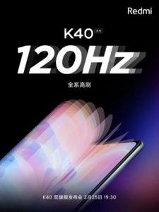 Redmi K40 series 120Hz refresh rate 690x920x
