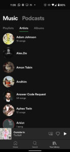 Spotify current library UI 3 554x1200x