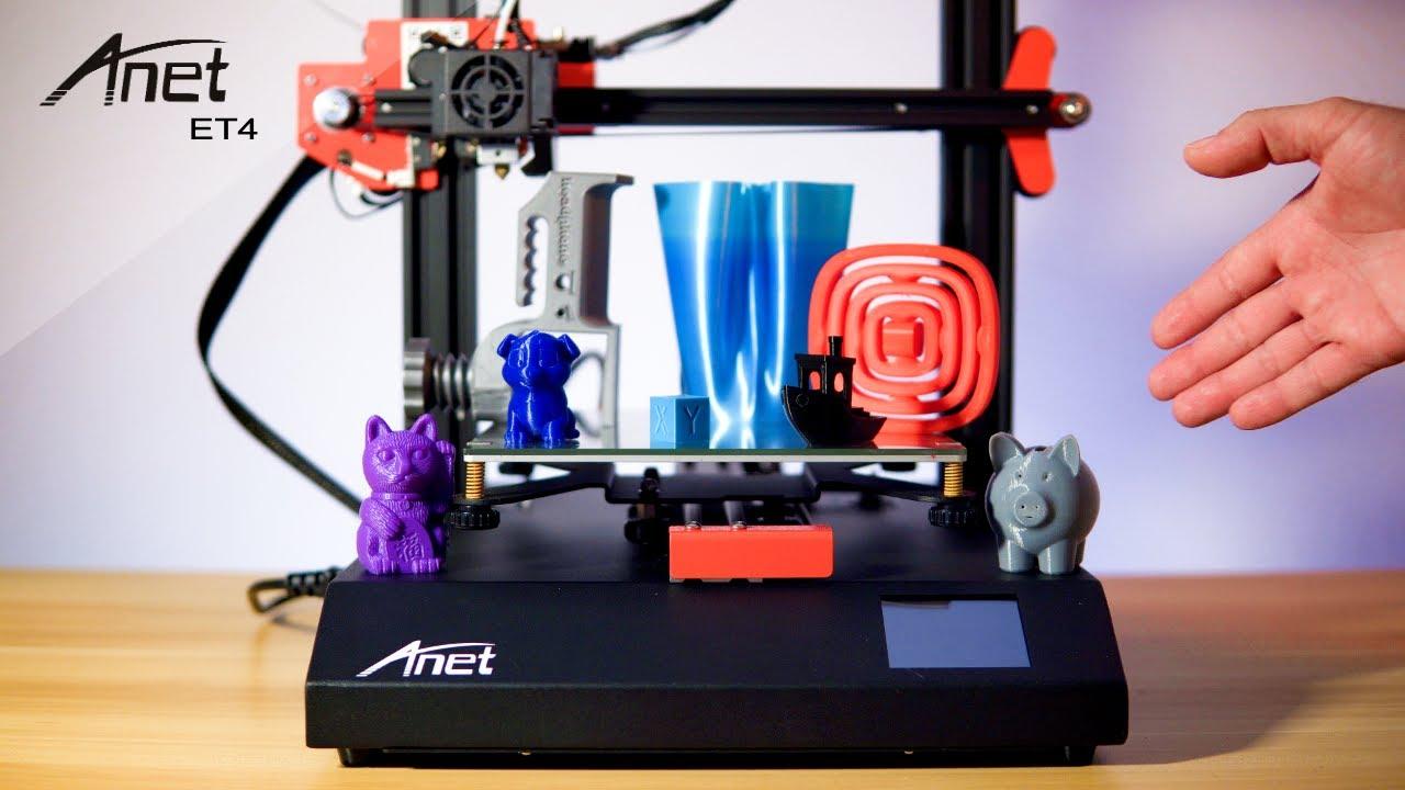 Tiskněte doma na 3D tiskárně! Kvalitní Anet ET4 nabízí bytelné provedení díky kovovému rámu [sponzorovaný článek]