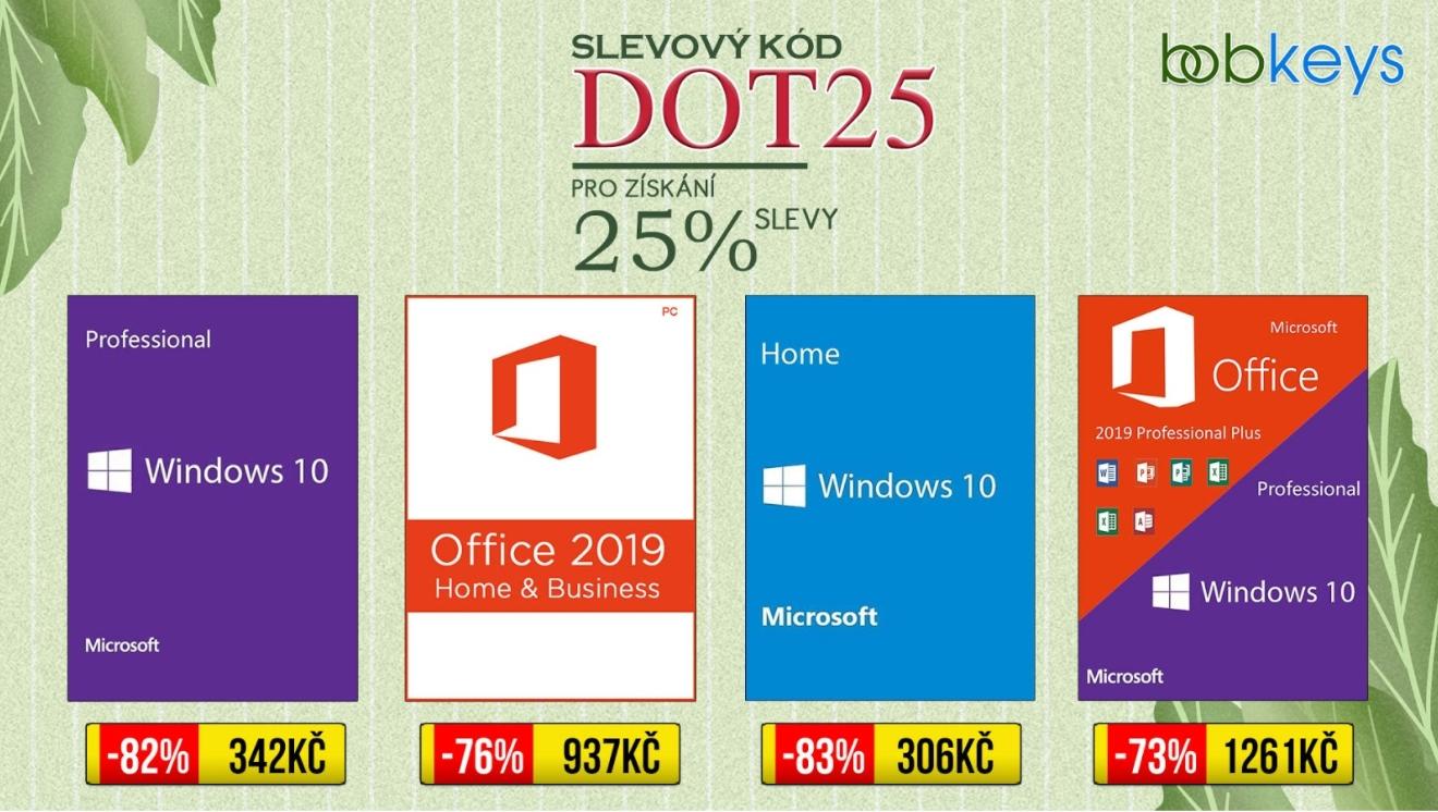 Jarní sleva Bobkeys: Windows 10 a Office 2019 Pro dohromady jen za 1188 Kč! [sponzorovaný článek]