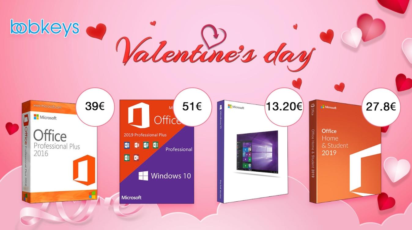 Valentýn je téměř tady! Kupte své milované třeba licenci Windows 10 Pro nebo Office 2019! [sponzorovaný článek]