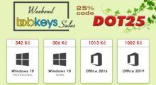 Víkendové slevy na Windows 10 a MS Office, již od 306 Kč na Bobkeys.com! [sponzorovaný článek]