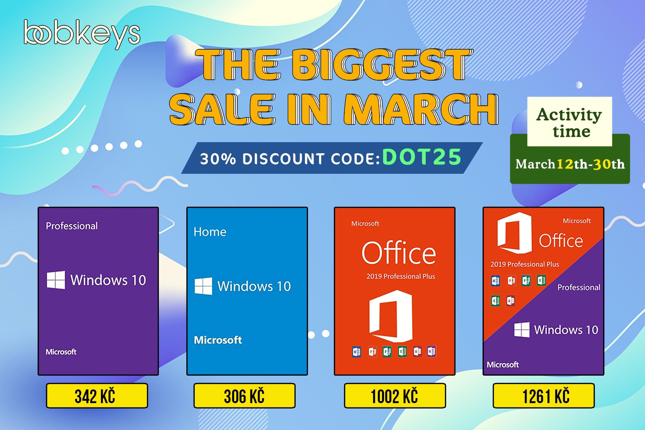 Březnové megaslevy na Windows 10 a další software na Bobkeys.com! [sponzorovaný článek]